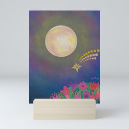 Full Moon - Scandinavian Folk Art Mini Art Print
