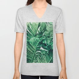 Tropical State of Mind #painting #tropical Unisex V-Neck