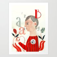letters Art Prints featuring LETTERS by Sara Stefanini