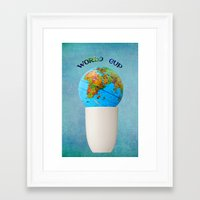 world cup Framed Art Prints featuring World cup by Anne Seltmann