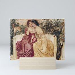 Simeon Solomon 1840–1905   Sappho and Erinna in a Garden at Mytilene Mini Art Print