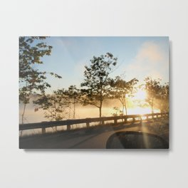 Sunrise over the lake Metal Print