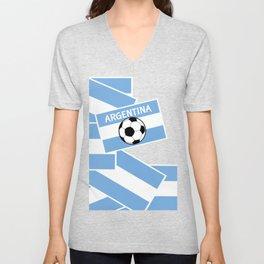 Argentina Football Unisex V-Neck
