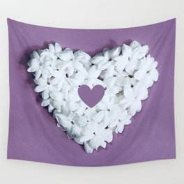 Purple You are in my heart Wall Tapestry