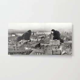 Cincinnati King Kong and Godzilla Rumble Metal Print