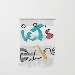 Type Let's Dance Wall Hanging