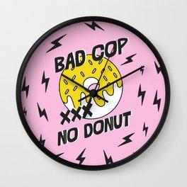 Bad Cop No Donut Black Lives Matter Print Against Police Brutality Wall Clock