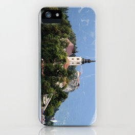 Lake in the mountains iPhone Case
