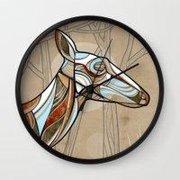 elk Wall Clocks featuring Elk by dchristo