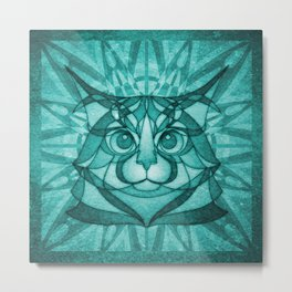 The Forest Maine Coon Metal Print