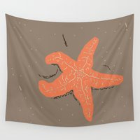 starfish Wall Tapestries featuring Simple Starfish by Whimsy Notions Designs