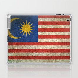 Old and Worn Distressed Vintage Flag of Malaysia Laptop & iPad Skin