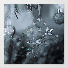 snowflake monochrome Canvas Print