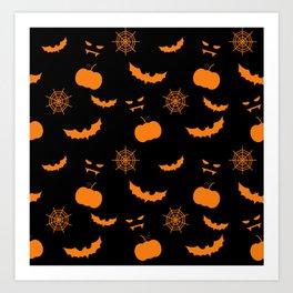 Helloween pattern Art Print