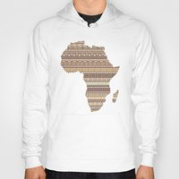 south africa Hoodies featuring Africa map by Khamkova Ksenia