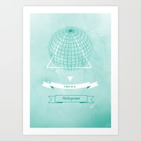 hologram Art Prints featuring Hologram by A|H Studio & Designs