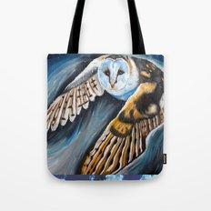 Night Owl in flight Tote Bag