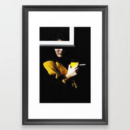 Orange Window Cigarette Framed Art Print