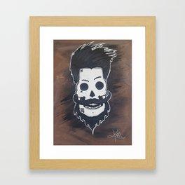 Beardy McSkullFace Framed Art Print