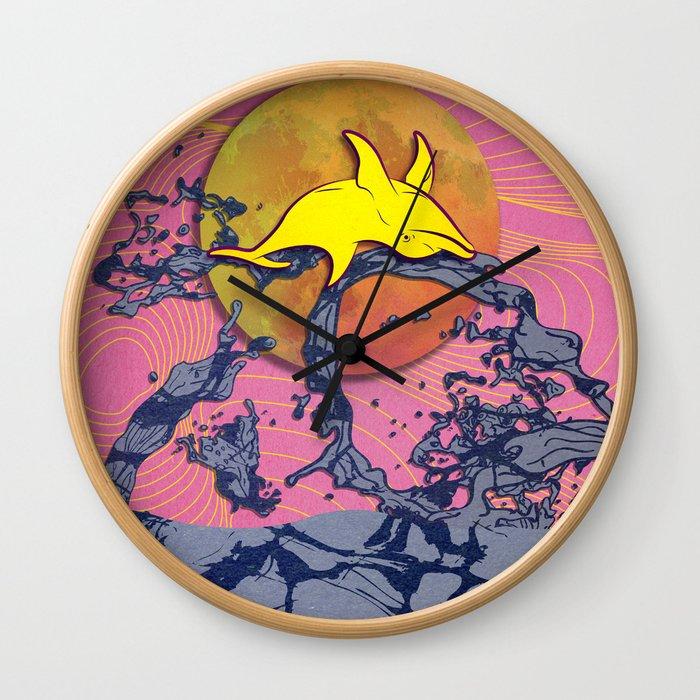 Lánzate (La Noche de San Juan) Pink Wall Clock