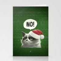 grumpy Stationery Cards featuring Grumpy Xmas by Dr. Lukas Brezak