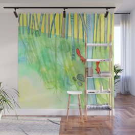 Summer Woods and Critters Wall Mural