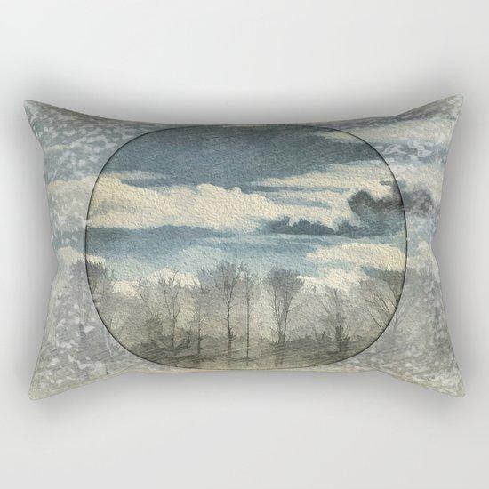 Circle Of Life Mirror Landscape Rectangular Pillow