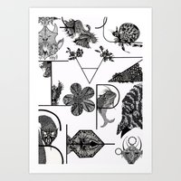 letters Art Prints featuring Letters by Isabella Polly