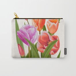 Colorful Flower Bouqet Painting Carry-All Pouch