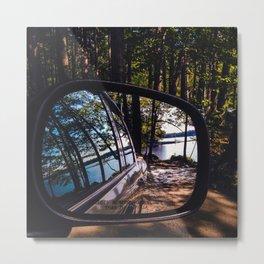 Reflections at Lake Pemaquid Campground in Damariscotta, Maine Metal Print