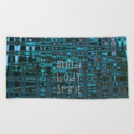 Mind Body Spirit Beach Towel