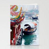 hong kong Stationery Cards featuring Hong Kong  by Juliette