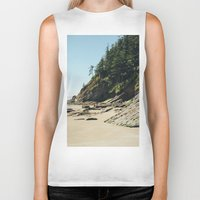 oregon Biker Tanks featuring OREGON COAST by James Wetherington