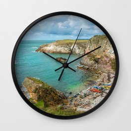 Rhoscolyn Bay Canoes Anglesey Wales Wall Clock