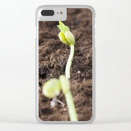 sprout beans Clear iPhone Case