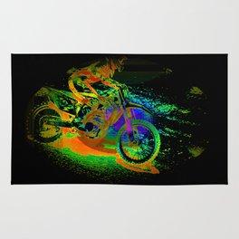 Race to the Finish! - Motocross Racer Rug