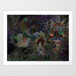 Witch Doctor and Baba Yaga Art Print