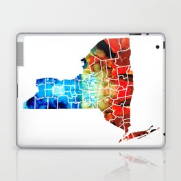 New York - Map By Sharon Cummings Laptop & iPad Skin