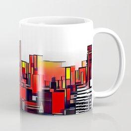 Mondrian Mosaic of Manhattan in Orange and Yellow Coffee Mug