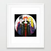 hocus pocus Framed Art Prints featuring Hocus Pocus by The Curly Whirl Girly.