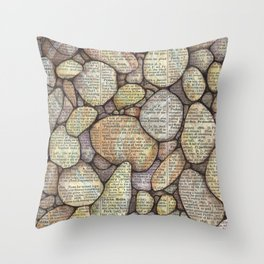 Bed of Stone Throw Pillow
