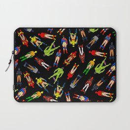 Superhero Butts Pattern (Dark) Laptop Sleeve
