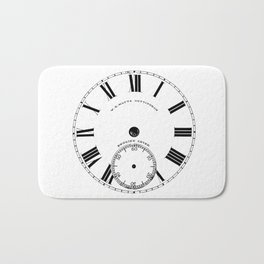 Time goes by vintage clock Bath Mat