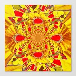 RED & YELLOW GEOMETRICAL-OPTICAL ART Canvas Print