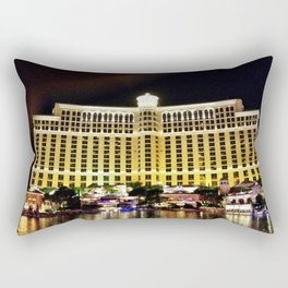 "Las Vegas ""Bellagio sits Majestic"" Rectangular Pillow"