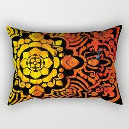 Orange Yellow Mandela Rectangular Pillow
