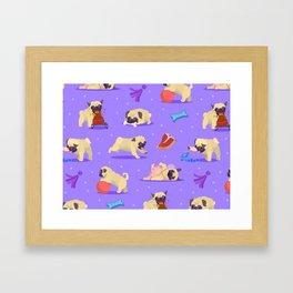 Funny Pugs Framed Art Print