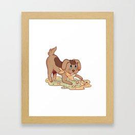 Boney Sticker Framed Art Print
