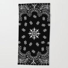 black and white bandana Beach Towel