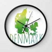 denmark Wall Clocks featuring Denmark by Stephanie Wittenburg